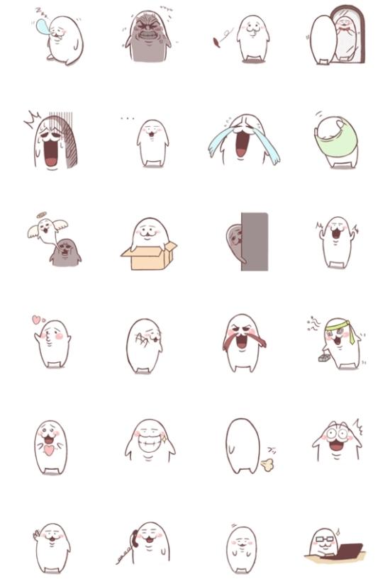 ラインスタンプ 【白くてまるいアイツ】がリリース!